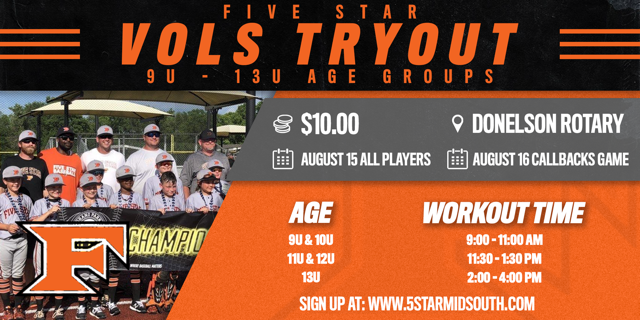 5 Star Vols Tryout 2020-2021